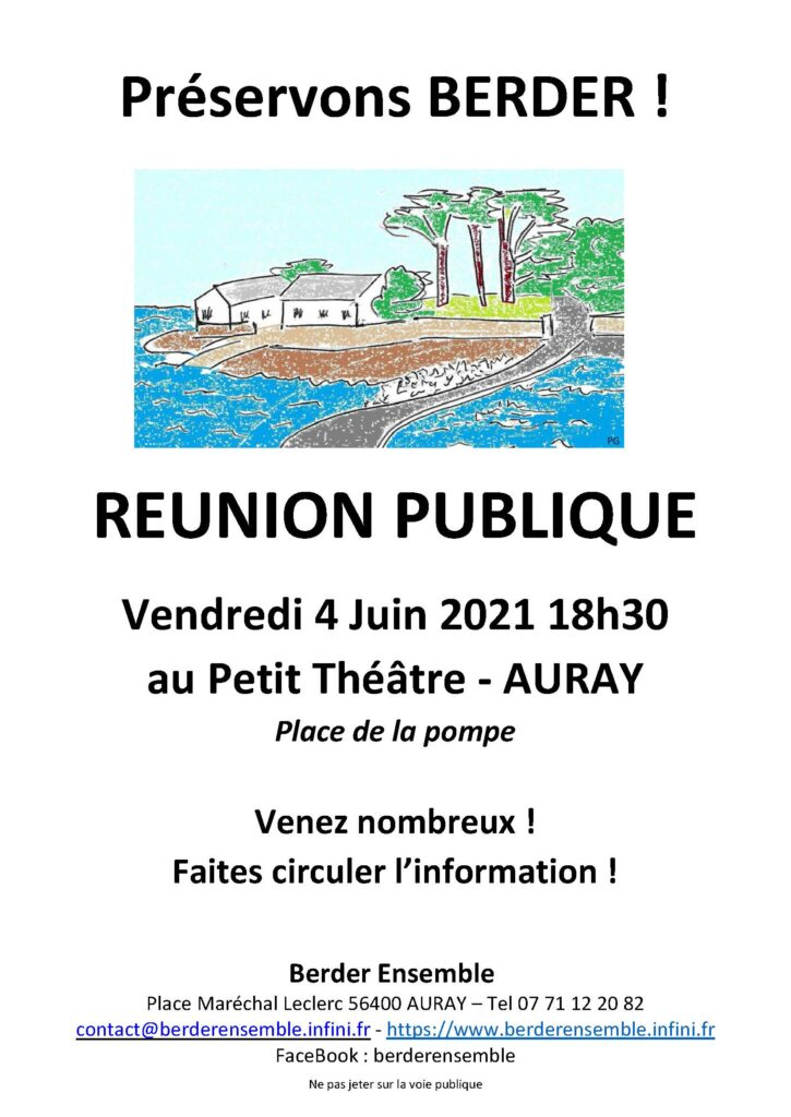 Réunion publique @ Auray Petit Théâtre